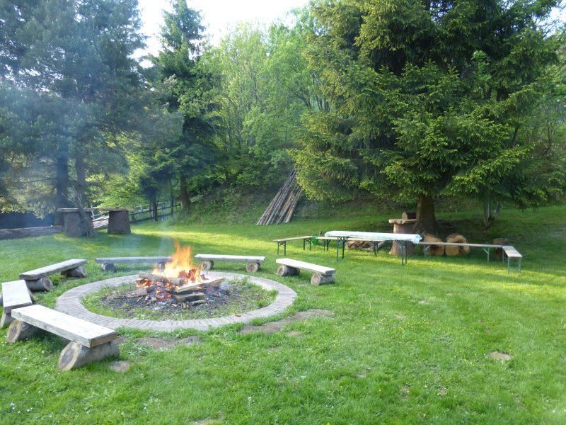 Lagerfeuer mit Ihrer Gruppe im Bayerwald Aktiv Zentrem